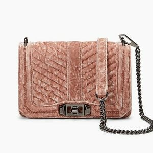 REBECCA MINKOFF Chevron small Love crossbody